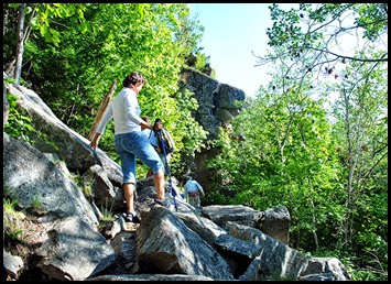 01d6 - Gorham Mtn Hike - Cadillac Cliff Trail - we went over