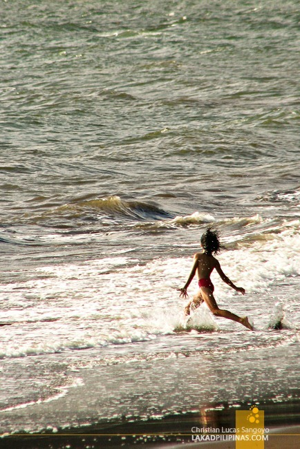 A Kid Enjoying the Beach at Sta. Cruz, Dapitan