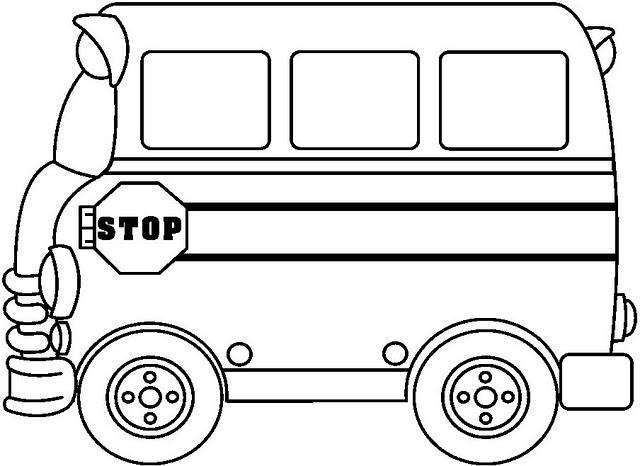 Dibujos Infantiles Escolares Para Colorear: COLOREAR AUTOBUSES ESCOLARES