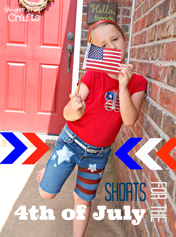shorts for the 4th of July #gingersnapcrafts #tutorial #decoart #4thofJuly