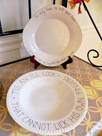 quote plates for food styling