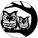Full Moon Owl Stencil
