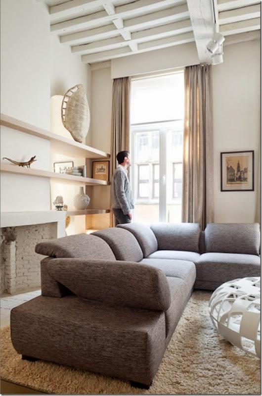ecclettico chic in belgio case e interni