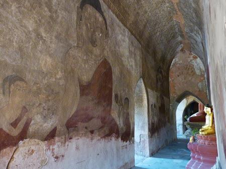 Obiective turistice Myanmar: Buda - pictura murala