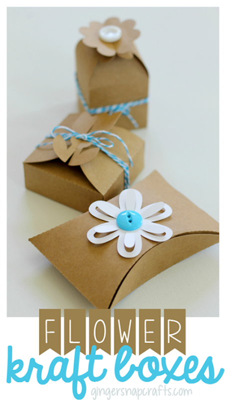 flower kraft boxes from GingerSnapCrafts.com #SihouetteCAMEO #SilhouettePortrait #tutorial_thumb[3]