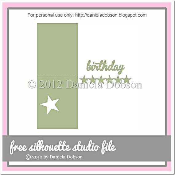 Star birthday card by Daniela Dobson