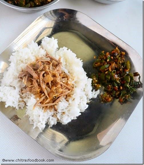 Vazhaipoo kuzhambu lunch menu