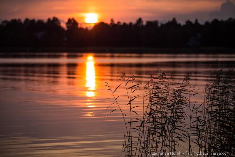 sunset reeds Finland