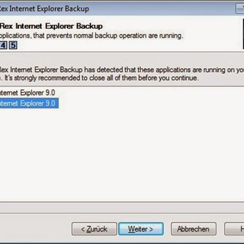 BackRex Internet Explorer Backup is a backup and restore tool for Internet Explorer.