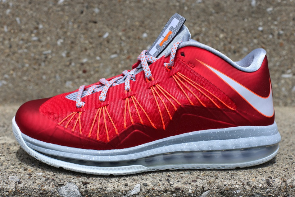 brand new 433b2 eca44 Release Reminder Nike Air Max LeBron X Low University Red ...