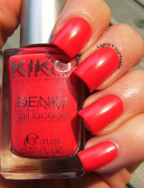 Kiko Denim 461 Art Poppy Red