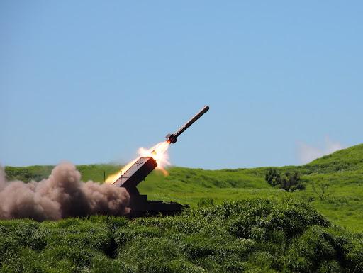 [写真]ミサイル発射の瞬間