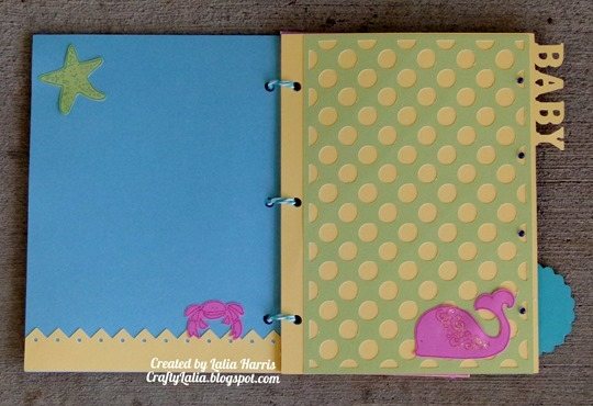 Artbooking baby mini-album from CTMH by Lalia Harris