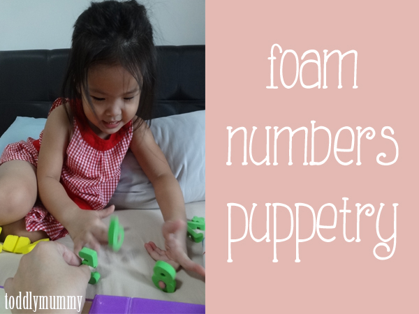 Foam numbers puppetry