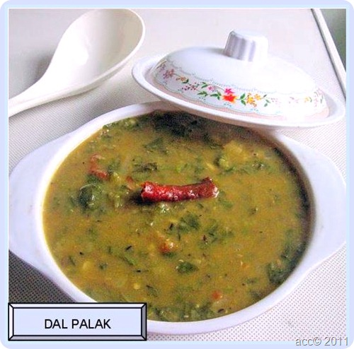 Dal Palak Recipe With Masoor Dal - Spinach Dal For Roti