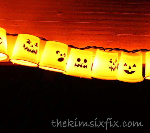 Pumpkin cup lights