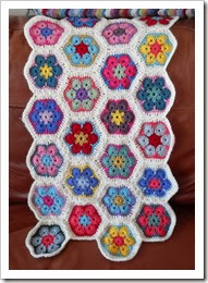 African Flower Motif blanket progress Feb14