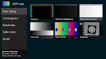 Screenshot of HDTV test