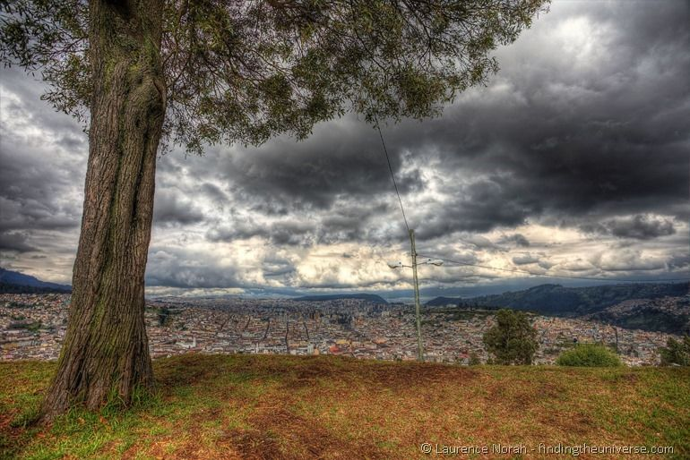 View of Quito from Angel