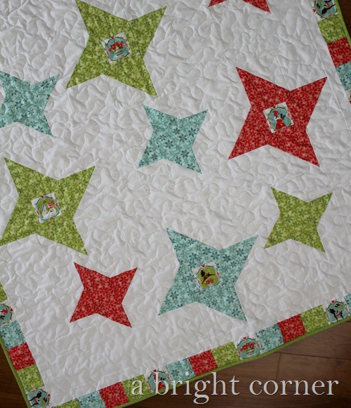 Friendship Star Christmas Quilt from A Bright Corner Quilts