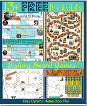 Download 13+ FREE History Games from Tina's Dynamic Homeschool Plus