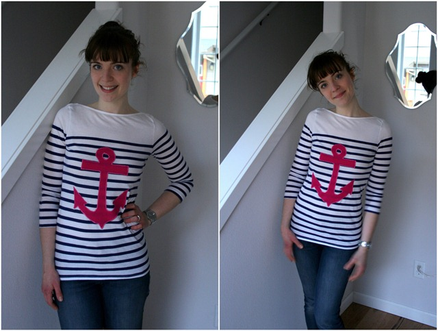 DIY Anchor applique tee tutorial-024