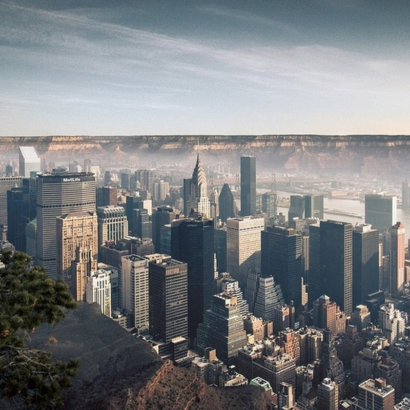 What If You Dropped Manhattan Into the Grand Canyon?