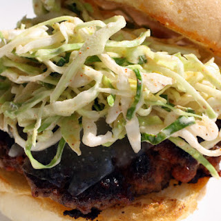 Chorizo Burgers with Manchego and Paprika Slaw