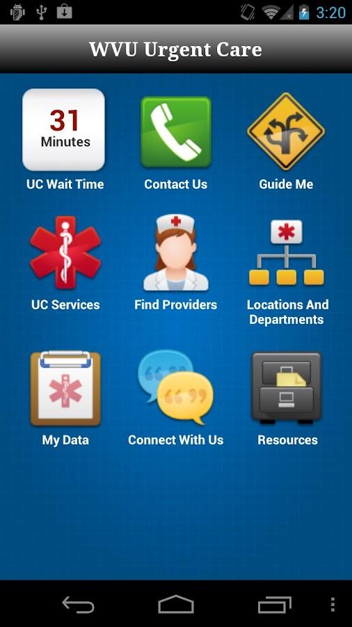 WVU Urgent Care- screenshot