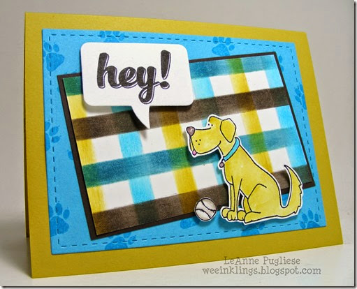 LeAnne Pugliese WeeInklings ColourQ253 Hi There Whippersnapper Pup Stampin