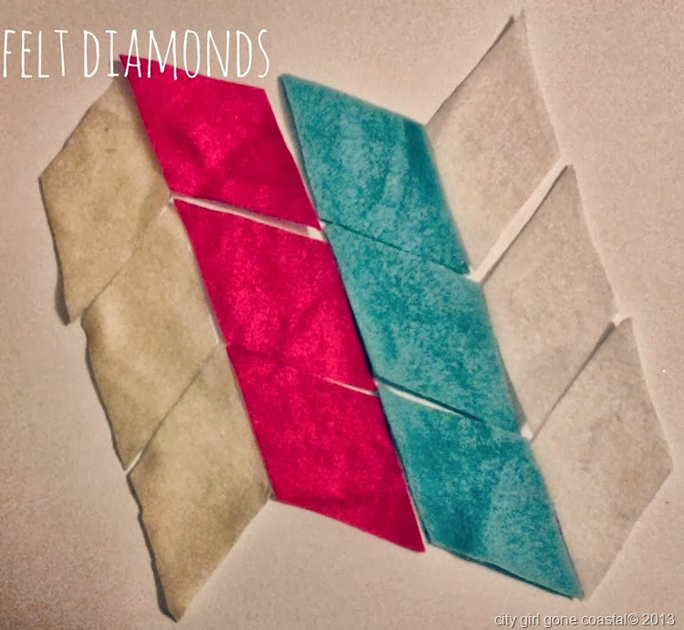 No sew felt bunting felt diamonds