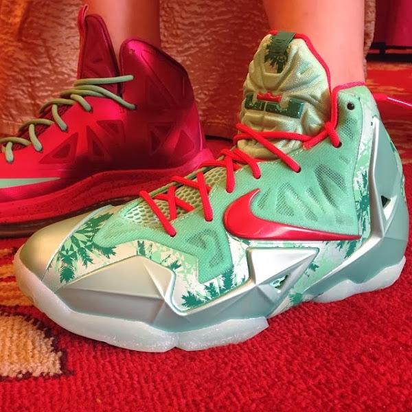 Lebron Christmas 10.Here S How Chrismas Nike Lebron 11 Compares To Xmas 10 S