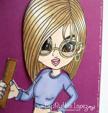 Scraper´s Delight - Crafty Honeys Ruler Digi - 613 Avenue Create - Door hanger - Ruthie Lopez - My Hobby My Art 3