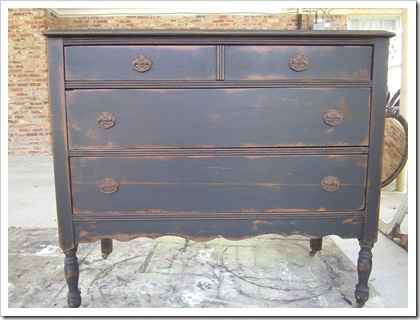 antique furniture finish - antiqued paint