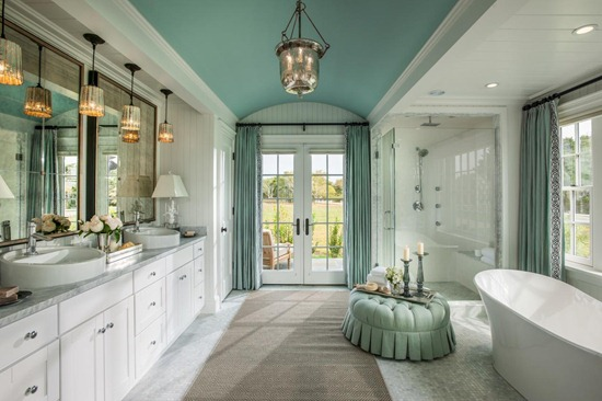 painted aqua ceiling