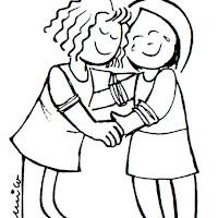 La Amistad Dibujos De Amigos Para Colorear
