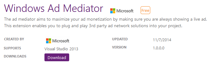 Download Ad Mediator Visual Studio Plugin (www.kunal-chowdhury.com)