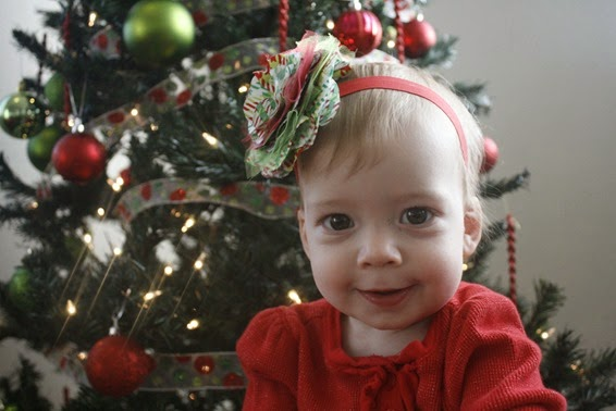 ChriDIY Christmas Headband for a Baby Girl