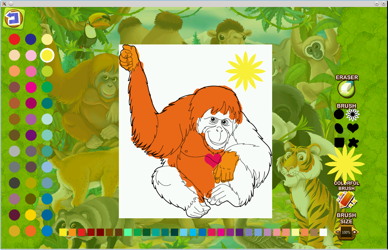 Puzzle coloring Asia Animals- screenshot