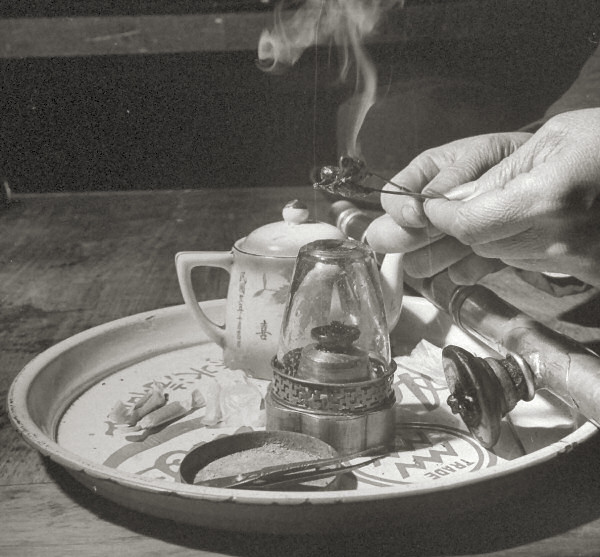 The tools of the trade for opium use, 1946.jpg