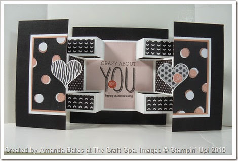 Groovy Love, Valentine Square Double Display Card. The Craft Spa 001