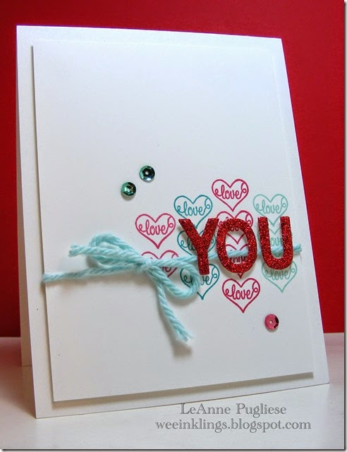 LeAnne Pugliese WeeInklings Love You Brighten My Day Stampin Up