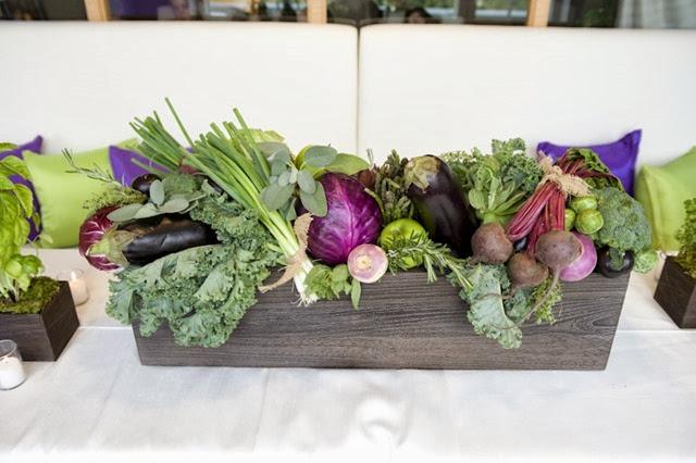 vegetable table arrangement