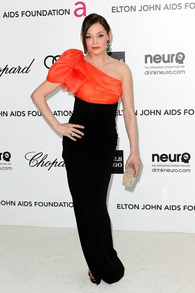 Rose McGowan  Annual Elton John Oscar Viewing