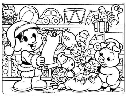 Desenhos Da Turma Da Monica Natal Atividades Para Colorir