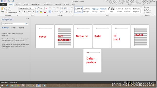 Membuat Halaman Berbeda Dalam Satu File Word Jak Belajar