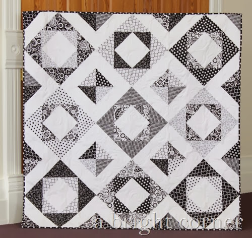 Evening Blooms quilt tutorial from A Bright Corner