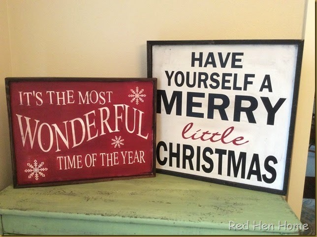 Red Hen Home Christmas Signs 3