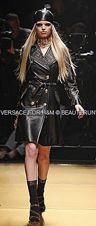 Versace H&M LeatherTrench Coat