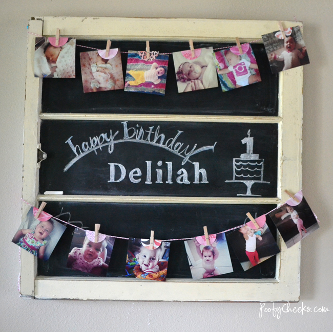 Instagram Photo Birthday Banner - A picture for each month leading up ...